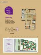 东方名城禾郡3室2厅2卫107平方米户型图
