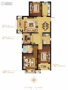 融科・玖玖派3室2厅2卫125平方米户型图