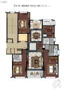 滨江保利・翡翠海岸4室2厅2卫161平方米户型图