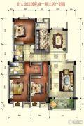北大金远国际城3室2厅2卫120平方米户型图