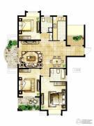 冠城大通棕榈湾3室2厅2卫138平方米户型图