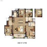 雅居乐万科中央公园4室2厅2卫139平方米户型图