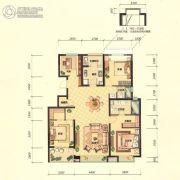 招商海公馆4室2厅2卫143平方米户型图