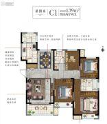 白塘壹号4室2厅2卫139平方米户型图