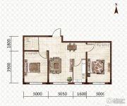 益和国际城2室1厅1卫69平方米户型图