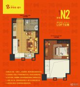 梦享城1室1厅1卫36平方米户型图