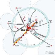 新西塘孔雀城印象澜庭交通图