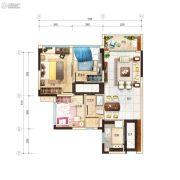 碧桂园玺悦3室2厅1卫82平方米户型图