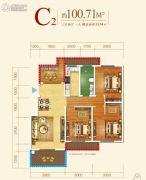王老太君悦湾3室2厅1卫100平方米户型图