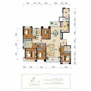仁恒滨海半岛5室2厅4卫234平方米户型图
