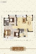 上官锦城3室2厅2卫105平方米户型图