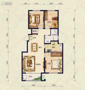 保艾尔云麓3室2厅1卫113平方米户型图