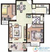 天和湖滨2室2厅1卫83平方米户型图