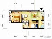 凯隆橙仕公馆2室1厅1卫56平方米户型图