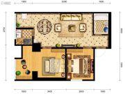 御笔城市广场2室1厅1卫79平方米户型图