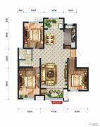润德天悦城3室2厅1卫0平方米户型图