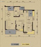 保利国际城翡丽湾2室2厅2卫112平方米户型图