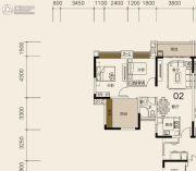 莱茵华庭3室2厅1卫85平方米户型图