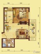 红海湾1室1厅1卫0平方米户型图