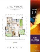 富兴鹏城2室2厅2卫101平方米户型图