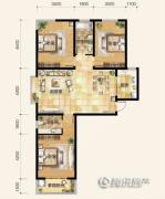 雍和慢城3室2厅2卫0平方米户型图