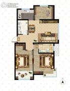 大成门3室2厅2卫112平方米户型图