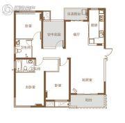 北辰三角洲4室2厅2卫141平方米户型图
