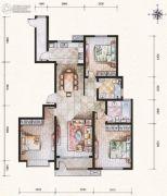滨河果岭3室2厅2卫155平方米户型图