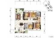 清泉城市广场3室2厅2卫0平方米户型图