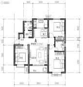 橄榄绿洲3室1厅1卫117平方米户型图