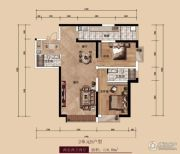 中广宜景湾・尚城2室2厅2卫116平方米户型图