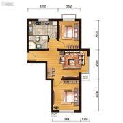 世百居・洪湖湾2室1厅1卫69平方米户型图