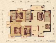 蓝海名都4室2厅2卫123平方米户型图