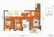 万科汉口传奇唐樾3室2厅2卫97平方米户型图