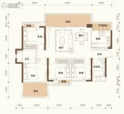 绿地悦麓名邸4室2厅2卫125平方米户型图