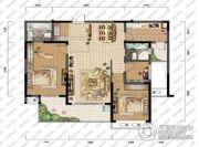高教公寓3室2厅2卫124平方米户型图
