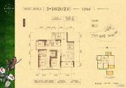 盛天东郡4室2厅2卫128平方米户型图