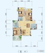 中铁・世纪山水3室2厅2卫126平方米户型图
