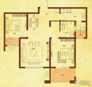 国赫红珊湾2室2厅1卫87平方米户型图