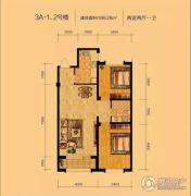 辽阳泛美华庭2室2厅1卫98平方米户型图