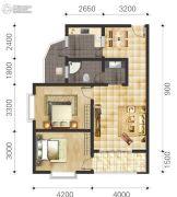 双语雅苑2室2厅2卫75--85平方米户型图