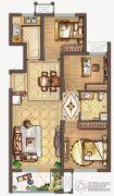 保利中央公园3室2厅1卫95平方米户型图