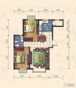 力旺康城2室2厅1卫80平方米户型图