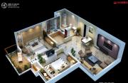 先河国际社区2室2厅1卫88平方米户型图