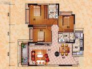 乐天峰公馆3室2厅2卫109平方米户型图