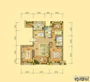 益田枫露3室2厅2卫115平方米户型图
