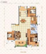 奥园湖畔一号4室2厅2卫150平方米户型图