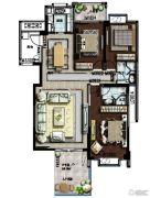 山海豪庭3室2厅2卫0平方米户型图