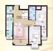 印象草原2室2厅1卫90平方米户型图