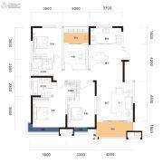 曲江・紫金城4室2厅3卫149平方米户型图